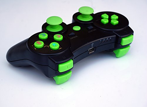 FSC NEW Wireless Remote PS3 Controller Gamepad for use with PlayStation 3 (Black/Green)