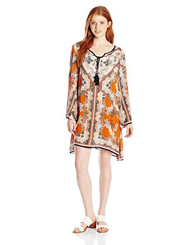 809ebcf387 Angie Junior s Spice Printed Bell Sleeve Dress