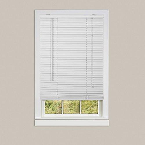 Achim Home Furnishings Deluxe Sundown 1-Inch Blind, 29-Inch by 64-Inch, White