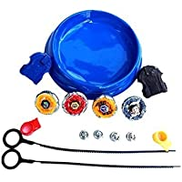 Tornado Adichai 4 Beyblade Set with Ripchord Launcher, Multi Color