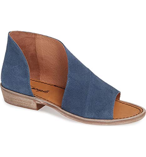 Free People Womens Mont Blanc Leather Open Toe Casual, Blue/Suede, Size 8.5 from Free People