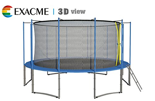 ExacMe-16-Ft-6W-Legs-Trampoline-w-Safety-Pad-and-Enclosure-Net-and-Ladder-All-in-one-Combo-Set-C16