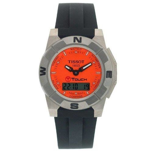 Tissot T-Touch Collection T0015204728100 - Reloj de caballero de cuarzo, correa de goma