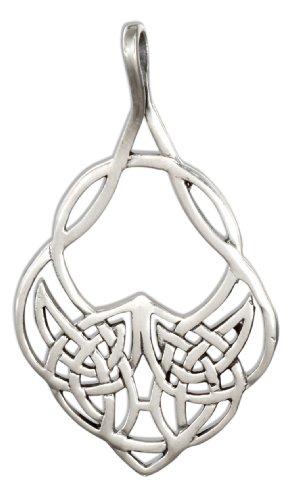 - Sterling Silver Fancy Teardrop Celtic Knots Pendant