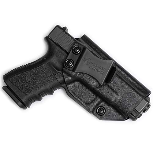 Glock 17 19 22 23 26 27 31 32 33 45 (Gen 1-5) IWB Holster - Combat Veteran Owned Company - Inside The Waistband Concealed Carry - Adjustable Retention and Cant (Right-Hand Draw (IWB)) (Threaded Barrel For Glock 22 Gen 4)