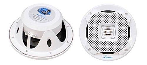 Pyle Lanzar AQ7CXW 500 Watts 7.7-Inch 2-Way Marine Speakers (White)