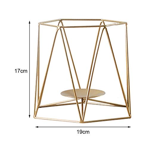 Candle Holders - Geometric Candlestick Nordic Minimalist Style Ornaments Wall Sconce Matching Steel Small Tealight - Natural Antique 20 Plate Tea Disposable Yellow Tapered Aspen Or