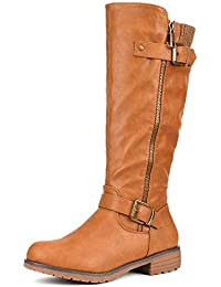 Women's Side Zipper Knee High Riding Boots for Lady