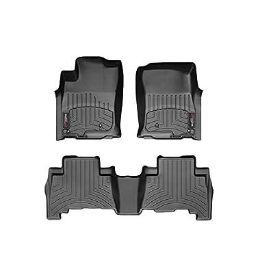 2016 Honda HR-V Weathertech Floor Liners-Full Set-(1st and 2nd Rows)-Black