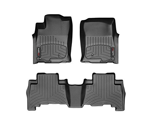 2016 Honda HR-V Weathertech Floor Liners-Full Set-(1st and 2nd Rows)-Black by WeatherTech