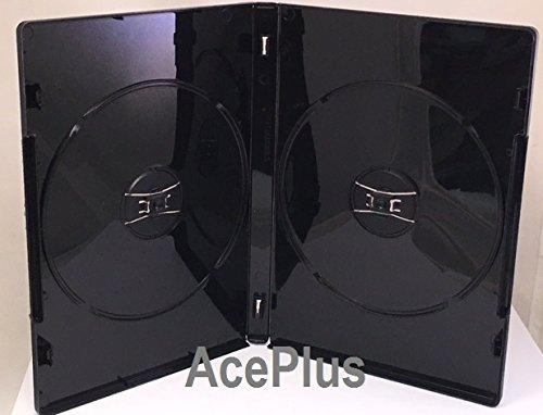 AcePlus DVD Case Standard 14mm Black Double Virgin Material Premium Grade 10 pieces ()