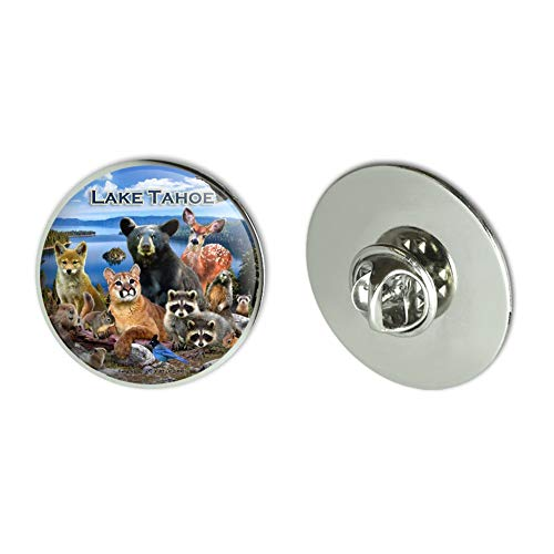 (GRAPHICS & MORE Lake Tahoe California CA Nevada NV Animals Bear Cougar Deer Metal 1.1