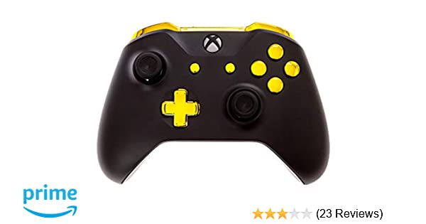 Xbox One S Modded Controller Black and Gold Chrome - Xbox 1 - Master Mod  Includes Rapid Fire, Drop Shot, Quick Scope, Sniper Breath, and More -  Works