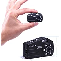 Infrared Night Vision Mini Hidden Spy Camera,Portable Nanny Camera HD 1080P with 120° Wide Angle,Wearable Small Tiny Spy Cam Wireless Outdoor/Indoor Sports DV Driving Recorder PC Camera Taking Photo