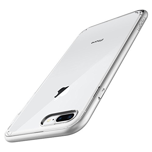 Spigen Neo Hybrid Crystal (2nd Generation) Designed for Apple iPhone 8 Plus Case (2017) / Designed for iPhone 7 Plus (2016) - Satin Silver