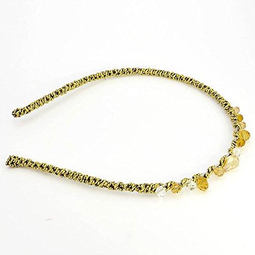 Bijoux de cheveux bandeau - Cristal - Bijou de tête - Couronne - Jaune - Petra - Cadeau Femme pas cher - Mes Bijoux Bracelets