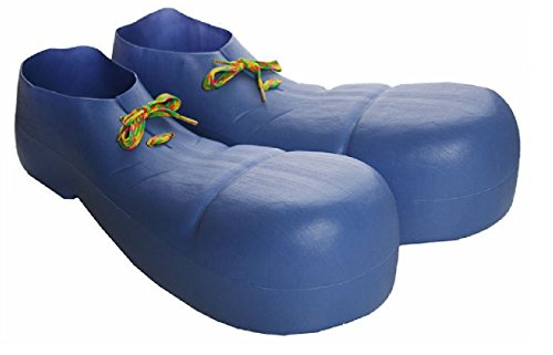 Bozo The Clown Shoes (Child Plastic Clown Circus Jumbo Shoes Bozo Goofy Oversized Costume Accessory)