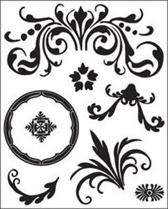 Basic Grey Origins Clear Self-Cling Bitsy Stamp: - Bitsy Clear Stamp