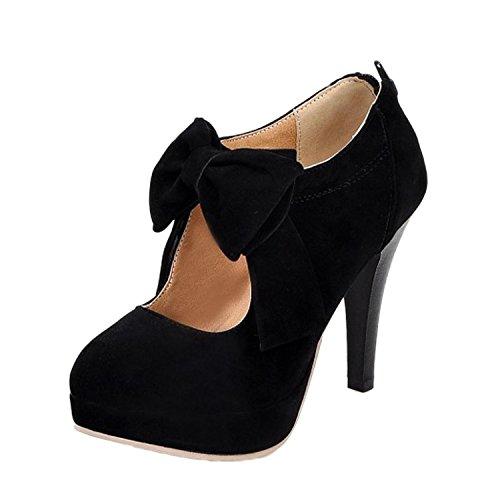 Nonbrand Synthétique Fin Noir Pour Chaussures Cour De Talon Femme wZrxFwvqtW