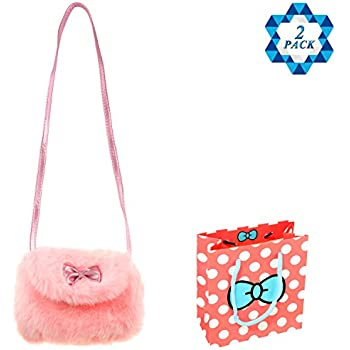 0f3d615dcd1b SOTOGO Little Girls Cute Plush Purse Handbag Shoulder Bag Cross Body Bag  Gift Bag Kids