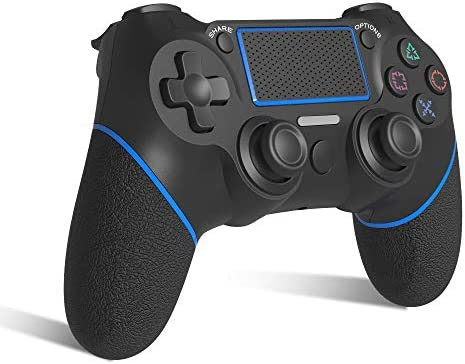 [2021 Edition] AVIDET Replacement for PS4 Controller, Wireless Controller for Playstation 4/Pro/3/Slim/PC, Touch Panel Gamepad with Dual Vibration and Audio Function, LED Indicator USB Cable