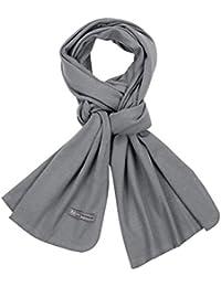 PuTian 100 Mens Merino Wool Scarf Men Pashmina Neckwear with GiftBox Pewter 78by16