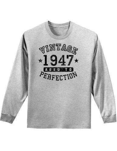 - TooLoud 1947 - Vintage Birth Year Adult Long Sleeve Shirt - Ash Gray - 4XL Brand