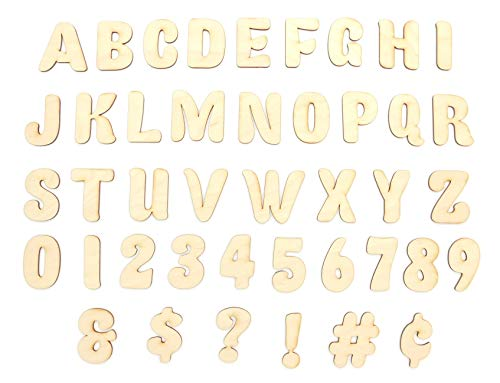 - DAVE'S SIGNS 47 Unfinished Wood Layout Letters, Numbers & Symbols for Arts, Crafts or DIY (1.5in - 6in Sizes, A-Z Alphabet, 0 to 9) - Premium Baltic Birch Plywood, Ready to Paint (Fatty Font, 1.5
