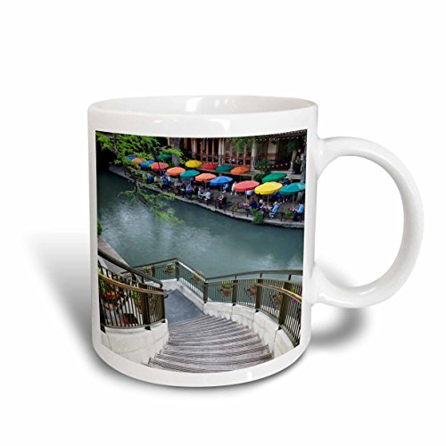 3dRose mug_94356_2 River Walk and San Antonio River, San Antonio, Texas-Us44 Aje0039-Adam Jones Ceramic Mug, - Outlets San Texas Antonio