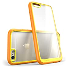iPhone 6s Plus Case, [Scratch Resistant] i-Blason Clear Halo for Apple iPhone 6 Plus Case 5.5 Inch Hybrid Cover (Clear/Orange)