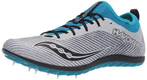 Saucony Men's Havok XC2 Track and Field Shoe, Grey/Blue, 12 Medium US