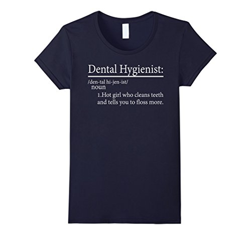 Women's Dental Hygienist – Hot girl cleans teeth shirt Medium Navy