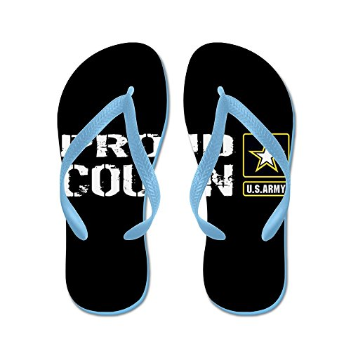 CafePress U.S. Army: Proud Cousin (Black) - Flip Flops, Funny Thong Sandals, Beach Sandals Caribbean Blue
