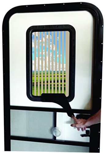 Replace Rv Window - RV Door Window CloZures Shade, Controls Sun Glare, Privacy, and Outside View by Moving fingertip Lever, Without Opening Screen Door. Kit Includes Tinted Glass to Replace Frosted Glass. (Beige)