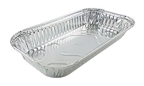 3 lb. Oblong Aluminum Pan 50/PK Disposable Foil Tray (NO LID)