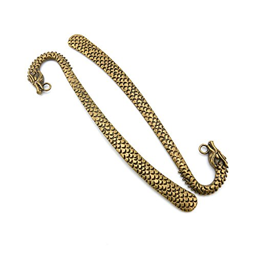 Price per 10 Pieces Jewelry Making Supply Charms Findings Filigrees T1EF3V Dragon Bookmark Hair Sticks Antique Bronze Findings Beading Craft Supplies Bulk Lots
