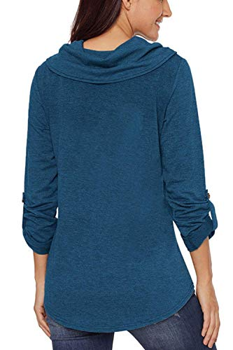 Hiver Taille couleur Avec Bleu Décontracté Pull Sweatshirts Gris Top Moyenne Ceinture Zhrui Sac qEUA6gwqv