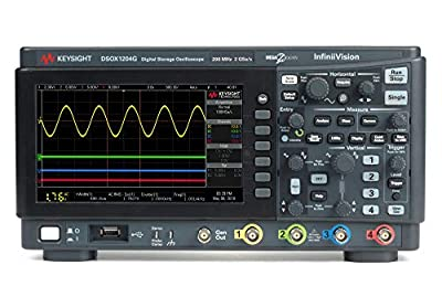 KEYSIGHT DSOX1204G Oscilloscope, 70 MHz, 4 Analog Channels with Functional Generator