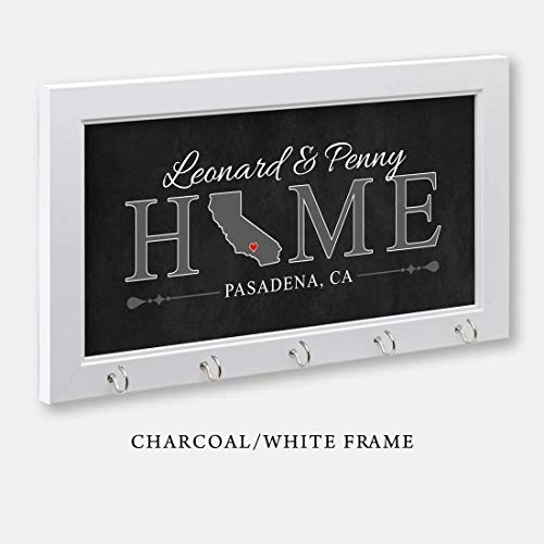 Personalized Key Holder With Home City And State, Housewarmi