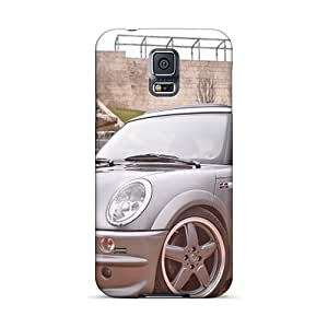 Durable Defender Case For Galaxy S5 Tpu Cover(grey Ac Schnitzer Mini Cooper Front Angle)