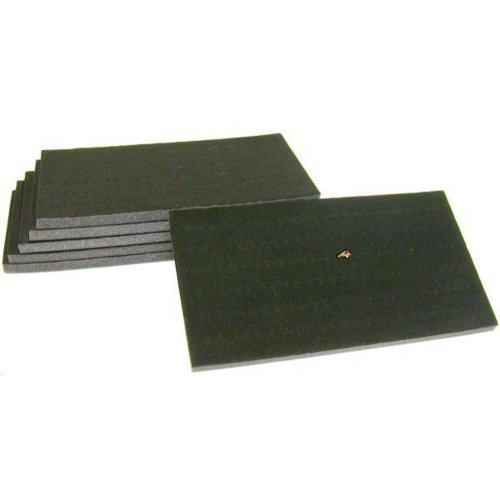 FindingKing 6 72 Slot Black Jewelry Travel Ring Inserts Display Pads