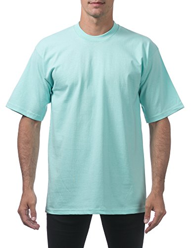 Pro Club Men's Heavyweight Cotton Short Sleeve Crew Neck T-Shirt, X-Large, Sea Foam Green