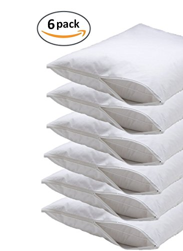 Deluxe Vinyl Pillow Protector With Zipper Pillow Covers
