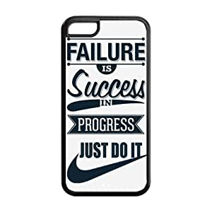 Success in Progress Just Do It NIKE Quote Hot TPU iPhone 5C Case Back Cover at Surprise you Store by ruishername