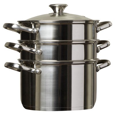Cook N Home - [NC-00313] 4 Piece Stainless Steel Multi-Pot Set | Silver
