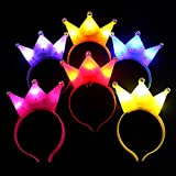 10Pcs LED Light Up Party Favor LED Glow Hairbands Light Up Flashing Headband Glow In The Dark LED Costume Headband LED Blinking Hair Band for Night Clubs, Event Favors, Raves, Concert Party, Halloween