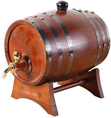 NO BRAND Toneles, Barriles De Madera De La Barra Horizontal con Negro 3L Grifo De Cerveza De Barril (Size : 1.5L)