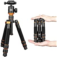 Lightweight Camera Tripod Aluminum Alloy Travel Mini Tripod with Ball Head for Canon Nikon Pentax Sony DSLR Camera Camcorder