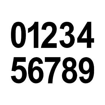 20 Stück 5cm Schwarz Ziffer Ziffern Zahl Zahlen Nummer