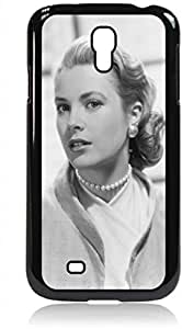 Grace Kelly- Hard Black Plastic Snap - On Case with Soft Black Rubber Lining-Galaxy s4 i9500 - Great Quality!
